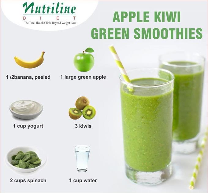 APPLE KIWI GREEN SMOOTHIES